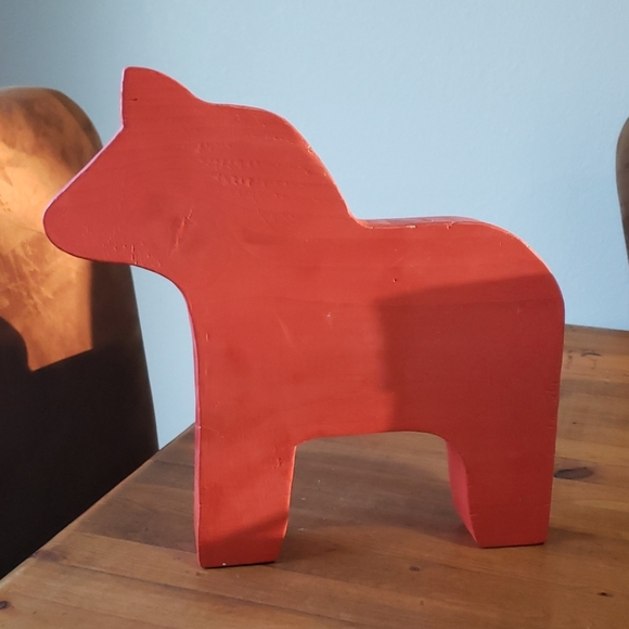 """Scandinavian Solid Wood Horse 11 x 11 x 1.5"""""""